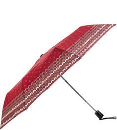 Красный полуавтоматический зонт с системой «антиветер» Doppler