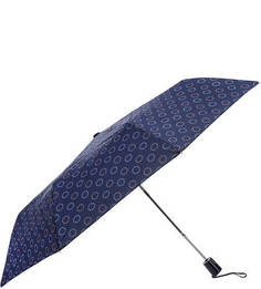 Складной полуавтоматический зонт синего цвета Doppler