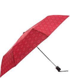 Складной полуавтоматический зонт красного цвета Doppler