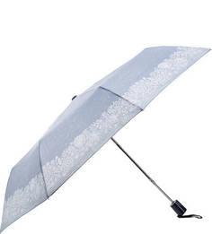 Синий полуавтоматический зонт в горошек Doppler