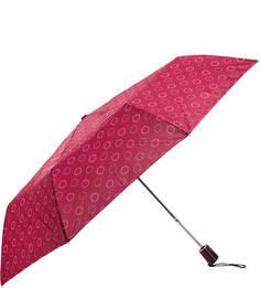 Складной полуавтоматический зонт цвета фуксии Doppler