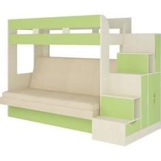 Кровать Атлант Карамель 75-01 Neo dimrose, бодега светлый, зеленый Atlant