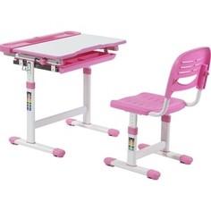 Комплект парта + стул трансформеры FunDesk Cantare pink