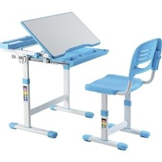 Комплект парта + стул трансформеры FunDesk Cantare blue