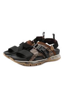 Кожаные сандалии Fendi