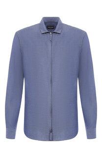 Рубашка из вискозы Giorgio Armani