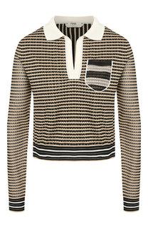 Шелковый пуловер Fendi