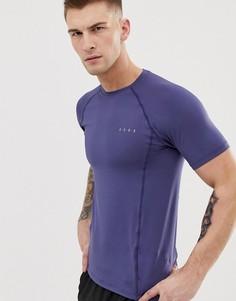 Синяя обтягивающая спортивная футболка из быстросохнущей ткани ASOS 4505 - Синий