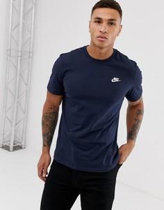 Темно-синяя футболка Nike - Club Futura - Темно-синий