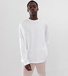 Белая oversize-футболка с длинными рукавами ASOS DESIGN Tall - Белый