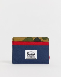 Кредитница колор блок Herschel Supply Co Charlie RFID - Мульти