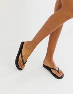 Блестящие шлепанцы Ipanema - Черный
