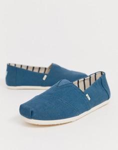Синие парусиновые эспадрильи TOMS - Синий