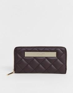 Стеганый кошелек баклажанного цвета на молнии Fiorelli - Фиолетовый