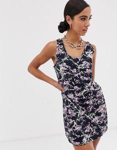 Платье-майка с мраморным принтом Love Moschino - Черный