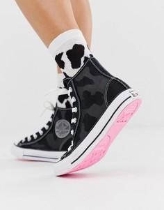 Черные высокие сетчатые кеды Converse - chuck taylor all star - Черный