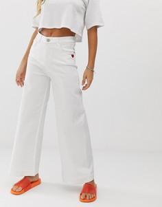 Белые широкие джинсы Love Moschino - Белый