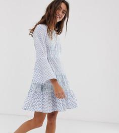 Чайное платье с принтом People Tree - Синий