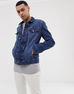 Синяя джинсовая куртка Tom Tailor - Синий