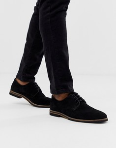 Черные замшевые туфли на шнуровке с контрастной подошвой ASOS DESIGN - Черный