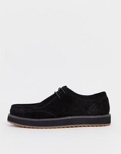 Черные замшевые туфли на шнуровке ASOS DESIGN - Черный