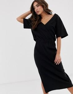 Платье миди с драпировкой G-Star Bodhana - Черный