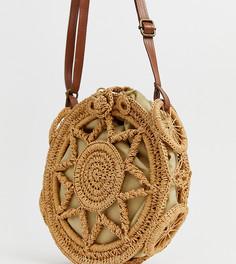 Светло-коричневая плетеная сумка через плечо South Beach - Рыжий