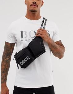 Черная сумка через плечо HUGO Record - Черный