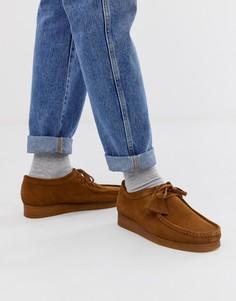 Замшевые туфли Clarks Originals Wallabee - Коричневый