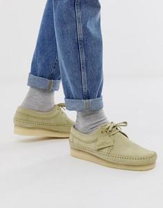 Замшевые туфли Clarks Originals Weaver - Бежевый