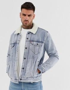 Светлая джинсовая куртка на подкладке из искусственной овчины Levis - Синий Levis®