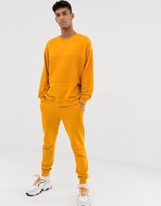 Желтый спортивный костюм со свитшотом и джоггерами ASOS DESIGN - Желтый
