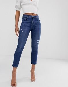 Укороченные джинсы с завышенной талией J Brand - Ruby - Синий