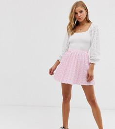 Плиссированная мини-юбка с цветочным принтом Another Reason - Розовый