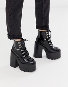 Ботинки на толстом каблуке Jeffrey Campbell - Fernrock - Черный
