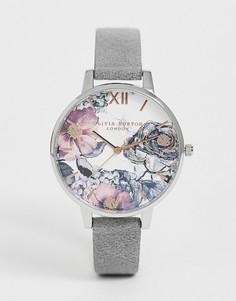Часы с кожаным ремешком Olivia Burton OB16VM23 Eco - Серый