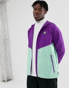 Фиолетовая ветровка со вставками adidas Skateboarding - Фиолетовый