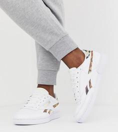 Белые кроссовки с эффектом змеиной кожи Reebok Club C эксклюзивно для ASOS - Белый