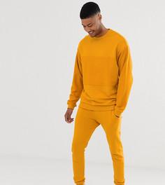 Желтый спортивный костюм из худи со вставкой и джоггеров ASOS DESIGN Tall - Желтый