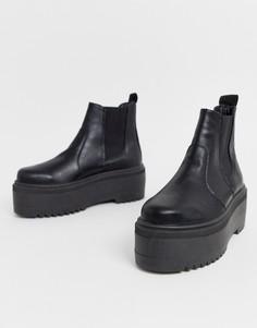 Черные массивные ботинки челси ASOS DESIGN - Amplify - Черный