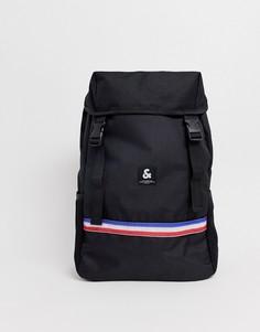 Рюкзак в стиле милитари со шнурком и сетчатыми карманами Jack & Jones - Черный