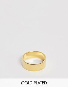 Кольцо с покрытием 14-каратным золотом ASOS DESIGN - Золотой