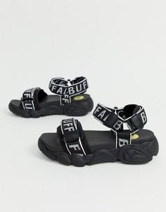 Сандалии на толстой подошве с логотипом Buffalo - Eisla - Черный