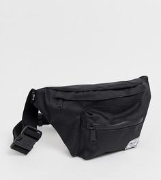Черная сумка-кошелек на пояс с однотонной молнией Hershel Supply Co Seventeen - Черный