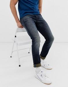 Темно-выбеленные джинсы скинни Scotch and Soda Phaidon - Синий