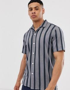 Серая повседневная рубашка с короткими рукавами и отложным воротником Farah - Ricardo - Серый