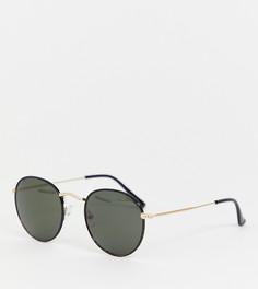 Черные круглые солнцезащитные очки Monki - Черный