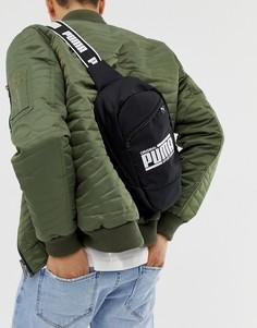 Черная сумка через плечо Puma - Черный