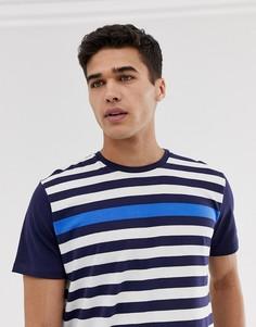 Синяя футболка в полоску Esprit - Красный