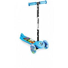 Трехколесный самокат Small Rider Scooter Flash 2в1 со светящимися колесами, синий